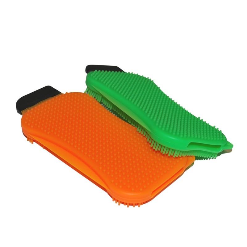 Éponges en silicone avec grattoir Silic'O Sponge+